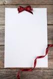 лист пустой бумаги Стоковые Изображения