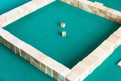 Исходная позиция настольной игры mahjong стоковое изображение