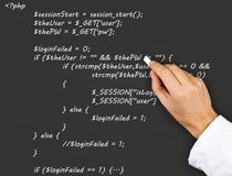 Исходный код Стоковые Изображения