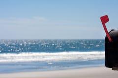 Исходящая почта пляжа Стоковое Изображение