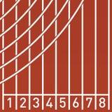 Исходный рубеж на идущем следе Стоковое фото RF