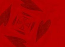 Исчезая перспектива пункта красных предпосылок сердца иллюстрация штока