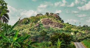 Исчезая сельское государство Нигерия Ekiti дороги стоковые изображения rf
