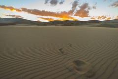 Исчезли следы ноги в песке Стоковое фото RF