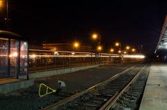 Исчерчивать пассажирский поезд Стоковое фото RF