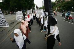 Исламская демонстрация Стоковое Фото