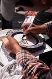 Исламская каллиграфия в Стамбуле, Турции иллюстрация вектора