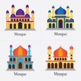 Исламская мечеть/Masjid для мусульман молят значок иллюстрация штока