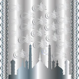 Исламская серебряная предпосылка Стоковое фото RF