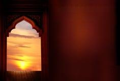 Исламские приветствуя карточки Eid Mubarak для мусульман Стоковые Изображения RF