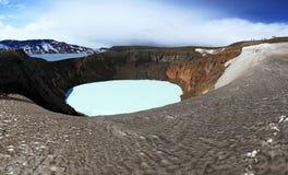 Исландия Кратеры Askja и Viti Зона гористой местности Стоковые Изображения RF