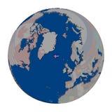 Исландия на политическом глобусе Стоковое фото RF