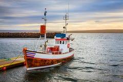 Исландская рыбацкая лодка Стоковая Фотография RF