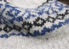 Исландская текстура свитера Стоковые Фото