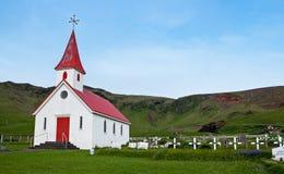 Исландская церковь Стоковые Фото