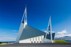 Исландская церковь. Стоковая Фотография