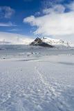 Исландские взгляды - ледник стоковое изображение