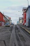 Исландские впечатления деревни стоковое изображение