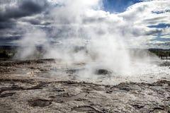 Исландский гейзер Стоковое Фото
