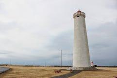Исландский маяк морем стоковая фотография rf