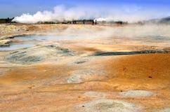 Исландское термальное поле серы стоковые изображения