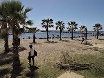 Италия, берег моря Civitavecchia стоковое фото rf