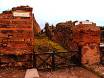Италия, город Неаполь, Помпеи, Mt Vesuvius Стоковая Фотография RF