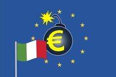 Италия искрится кризис евро иллюстрация штока