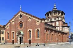Италия - Ломбардия - милан - церковь Grazie delle Santa Maria с фреской тайной вечери Леонардо Да Винчи Стоковое фото RF