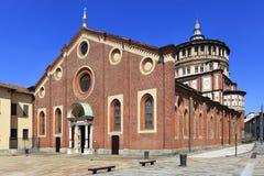 Италия - Ломбардия - милан - церковь Grazie delle Santa Maria Стоковое фото RF