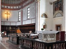 Италия - Ломбардия - милан - церковь Grazie delle Santa Maria Стоковые Изображения