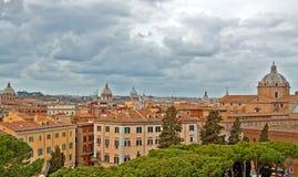 Италия над взглядом rome Стоковое Изображение
