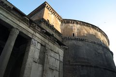 Италия, пантеон в Риме стоковые фотографии rf