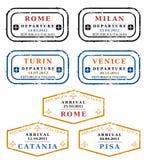 Италия штемпелюет вектор Стоковые Фото