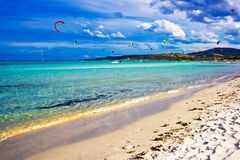 Италия kitesurfing Стоковые Изображения RF