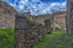 Италия pompei 02,01,2018 Дом старых римских руин, Стоковые Фотографии RF