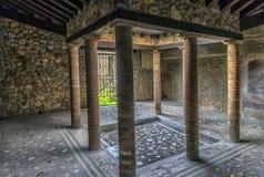 Италия, Pompei, 02,01,2018 Каса del Menandro (дом Menan Стоковая Фотография RF