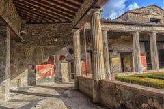 Италия, Pompei, 02,01,2018 Каса del Menandro (дом Menan Стоковое Изображение RF