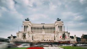 Италия rome Алтар отечества построенный в честь Виктор Emmanuel II II Vittoriano в летнем дне видеоматериал