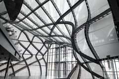 Италия rome 14-ое апреля 2018 Здание архитектуры облака современное Стоковые Изображения
