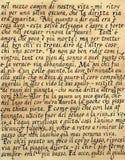 итальянка каллиграфии Стоковые Изображения