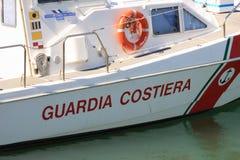 итальянка службы береговой охраны шлюпки Стоковое Изображение