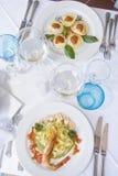 итальянка тарелки Стоковое Изображение