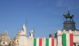 итальянка флага Стоковое фото RF