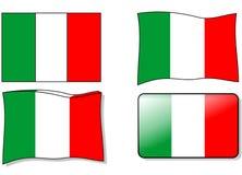 итальянка флага Стоковые Изображения
