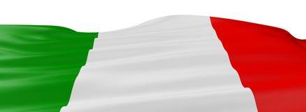 итальянка флага 3d Стоковое Изображение RF