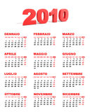 итальянка 2010 календаров Стоковые Изображения