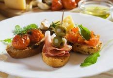 итальянка bruschetta хлеба toasted традиционное стоковое изображение rf