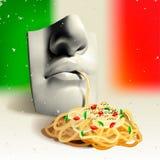 Итальянская еда - принципиальная схема Стоковое Изображение RF