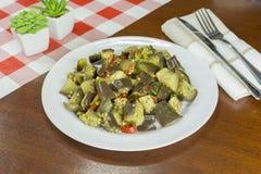 Итальянская закуска Caponata стоковое изображение rf